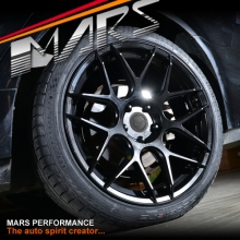 MARS MP-JW Matt Black 4x 19 Inch Concave Stag Alloy Wheels Rims 5x100