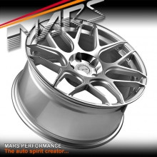 MARS MP-JW Machined Silver 4x 19 Inch Concave Stag Alloy Wheels Rims 5x112