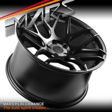 MARS MP-JW Matt Black 4x 20 Inch Concave Stag Alloy Wheels Rims 5x112