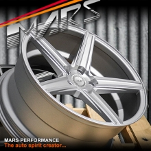MARS MP-KD 20 inch Matt Silver 5x114.3 Stag Concave Alloy Wheels Rims