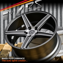 MARS MP-KD 20 inch Matt Gun Metal 5x120 Stag Concave Alloy Wheels Rims for BMW & Holden