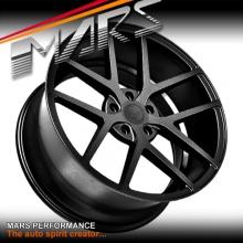 MARS MP-KW Sand Matt Black 4x 20 Inch Concave Stag Alloy Wheels Rims 5x112