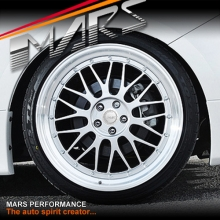 MARS MP-LM Hyper Silver 4x 19 Inch Step Dish Stag Alloy Wheels Rims 5x100