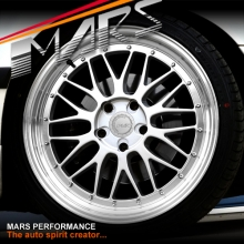MARS MP-LM Hyper Silver 4x 19 Inch Step Dish Stag Alloy Wheels Rims 5x120 for BMW