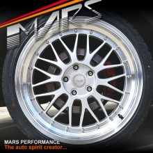 MARS MP-LM Hyper Silver 4x 19 Inch Step Dish Stag Alloy Wheels Rims 5x114.3