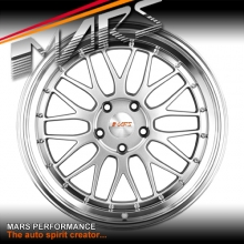 MARS MP-LM Hyper Silver 4x 19 Inch Step Dish Stag Alloy Wheels Rims 5x120 for Holden