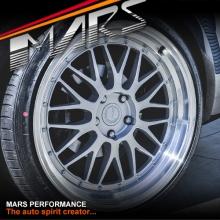 MARS MP-LM Hyper Silver 20 Inch Step Dish Stag Alloy Wheels Rims 5x112