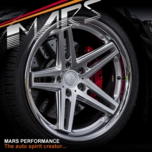 MARS MP-MC 19 inch Hyper Silver 5 Sporks Stag Concave with Dish Alloy Wheels Rims 5x120