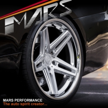 MARS MP-MC 19 inch Hyper Silver 5 Sporks Deep Concave face with Dish Lip Alloy Wheels Rims 5x114.3