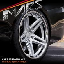 Carbon Fiber Wheels >> MARS MP-MC 19 inch Hyper Silver 5 Sporks Deep Concave face ...
