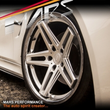 MARS MP-MC 19 inch Hyper Silver 5 Sporks Stag Concave with Dish Alloy Wheels Rims 5x112