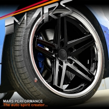 MARS MP-MC 19 inch Gloss Black 5 Sporks Stag Concave with Dish Alloy Wheels Rims for 5x120 BMW