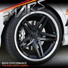 MARS MP-MC 19 inch Gloss Black 5 Sporks Stag Concave with Dish Alloy Wheels Rims for Ford FPV Falcon BA BF FG