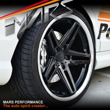 MARS MP-MC 19 inch Gloss Black 5 Sporks Stag Concave with Dish Alloy Wheels Rims For Holden Commodore