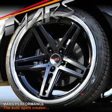MARS MP-MC 19 inch Gloss Black 5 Sporks Stag Concave with Dish Alloy Wheels Rims 5x114.3