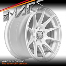 MARS MP-MS Gloss White 15x8.25 inch Deep Concave Alloy Wheels Rims 4x114.3 4x100