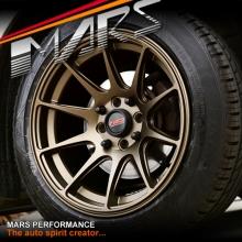 MARS MP-MS Matt Bronze 15x8.25 inch Deep Concave Alloy Wheels Rims 4x114.3 4x100