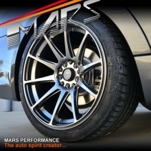 MARS MP-MS Hyper Black Concave 4x 18 Inch Stag Alloy Wheels Rims 5x112 5x120