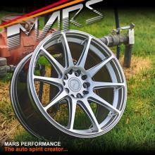 MARS MP-MS Hyper Silver Concave 18x8.5 Inch ET35 Alloy Wheels Rims 5x112 5x120