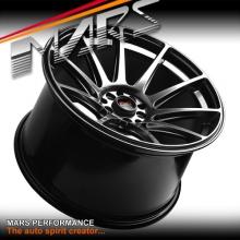 MARS MP-MS Hyper Black Concave 4x 18 Inch Stag Alloy Wheels Rims 5x100 5x114.3