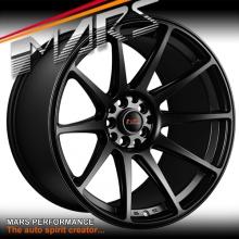 MARS MP-MS Matt Black Concave 4x 18 Inch Stag Alloy Wheels Rims 5x112 5x120