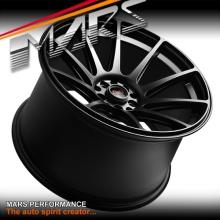 MARS MP-MS Matt Black Concave 4x 18 Inch Stag Alloy Wheels Rims 5x100 5x114.3