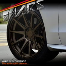 MARS MP-MS Matt Bronze 4x 19 Inch Deep Concave Stag Alloy Wheels Rims 5x114.3