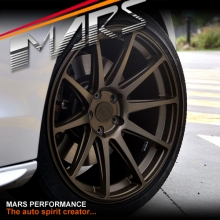MARS MP-MS Matt Bronze 4x 19 Inch Deep Concave Stag Alloy Wheels Rims 5x120