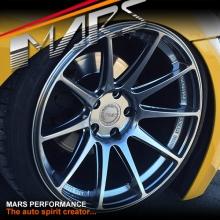 MARS MP-MS Hyper Black 4x 19 Inch Deep Concave Stag Alloy Wheels Rims 5x114.3