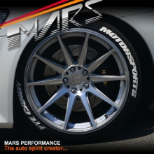 MARS MP-MS Hyper Silver 4x 20 Inch Deep Concave Stag Alloy Wheels Rims 5x120