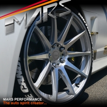 MARS MP-MS Hyper Silver 4x 20 Inch Deep Concave Stag Alloy Wheels Rims 5x114.3