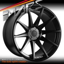 MARS MP-MS Matt Black 4x 20 Inch Deep Concave Stag Alloy Wheels Rims 5x112