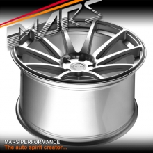 MARS MP-MS Hyper Silver 4x 20 Inch Deep Concave Stag Alloy Wheels Rims 5x112
