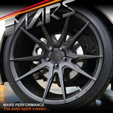 MARS MP-RH 19 inch Matt Black 4x 19 Inch Deep Concave Stag Alloy Wheels Rims 5x100