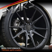 MARS MP-RH Matt Black 4x 19 Inch Deep Concave Stag Alloy Wheels Rims 5x120