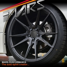 MARS MP-RH Matt Black 4x 19 Inch Deep Concave Stag Alloy Wheels Rims 5x114.3