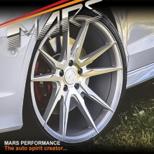 MARS MP-RH Silver 4x 19 Inch Deep Concave Stag Alloy Wheels Rims 5x114.3