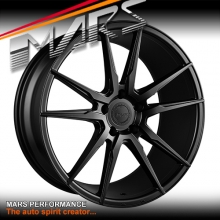 MARS MP-RH Matt Black 4x 22 Inch Under Cut Multi-Spork Alloy Wheels Rims 5x120