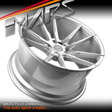 MARS MP-RH Hyper Silver 4x 20 Inch Deep Concave Stag Alloy Wheels Rims 5x114.3