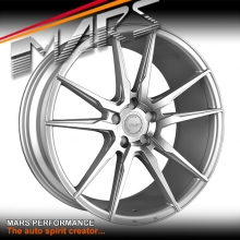 MARS MP-RH Silver 4x 22 Inch Under Cut Multi-Spork Alloy Wheels Rims 5x112