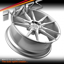 MARS MP-RH Silver 4x 22 Inch Under Cut Multi-Spork Alloy Wheels Rims 5x120