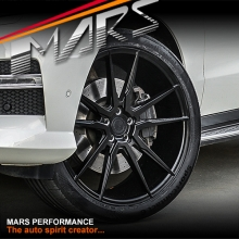 MARS MP-RH Matt Black 4x 22 Inch Under Cut Multi-Spork Alloy Wheels Rims 5x112