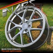 MARS MP-RI 19x8.5 Inch ET35 Hyper Silver Alloy Wheels Rims 5x114.3