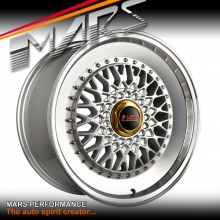 MARS MP-RS 18 inch Flash Silver Mesh Face with Polished lip Stag Alloy Wheels Rims 5x120