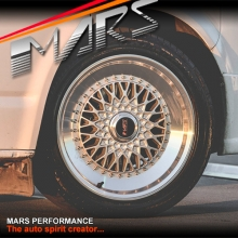 MARS MP-RS 18 inch Flash Silver Mesh Face with Polished lip Stag Alloy Wheels Rims 5x112