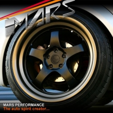 MARS MP-S1 4x 18 Inch Matt black Face with deep Matt bronze dish Alloy Wheels Rims 5x120