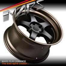 MARS MP-S1 4x 18 Inch Matt black Face with deep Matt bronze dish Alloy Wheels Rims 5x114.3