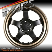 MARS MP-S1 4x 18 Inch Matt black Face with deep Matt bronze dish Alloy Wheels Rims 5x100