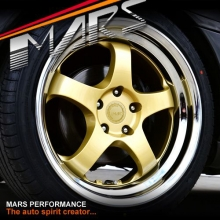 MARS MP-S1 4x 18 Inch Gold Face with deep Chrome dish Alloy Wheels Rims 5x114.3