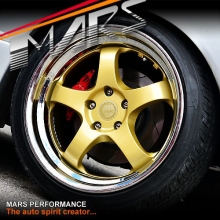 MARS MP-S1 4x 18 Inch Gold Face with deep Chrome dish Alloy Wheels Rims 5x120